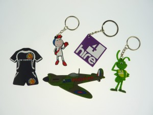 Group of Gel Keyrings and Fridge Magnets